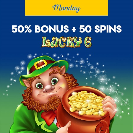 monday bonus offer at Yabby Casino.