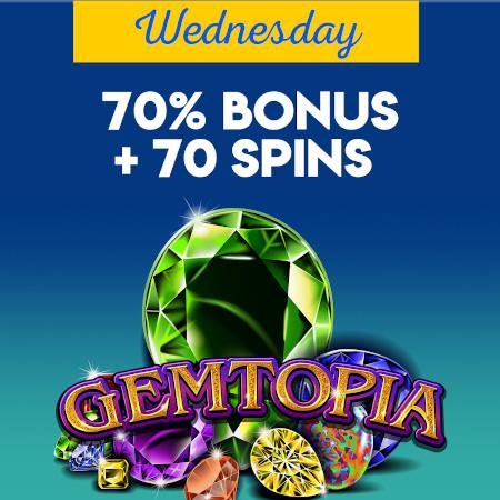 wednesday bonus offer at Yabby Casino.