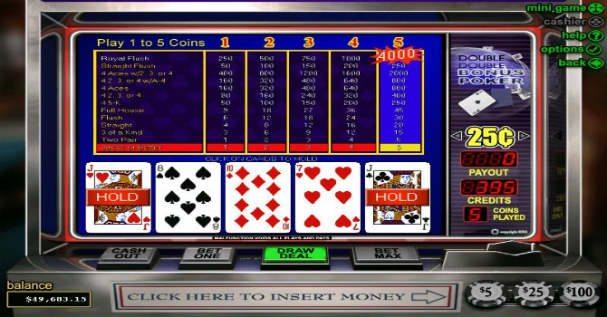 video poker win