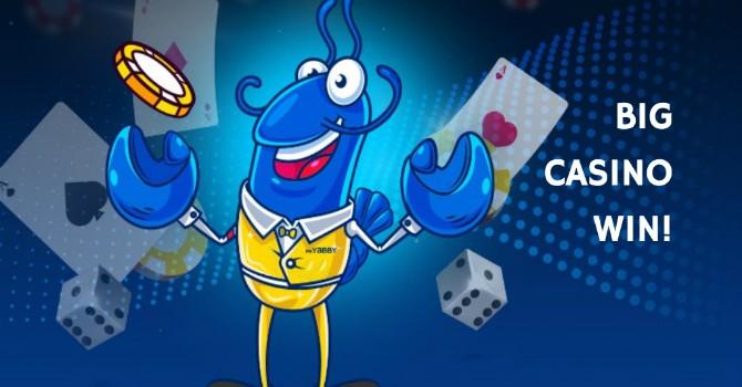 online casino winning hit
