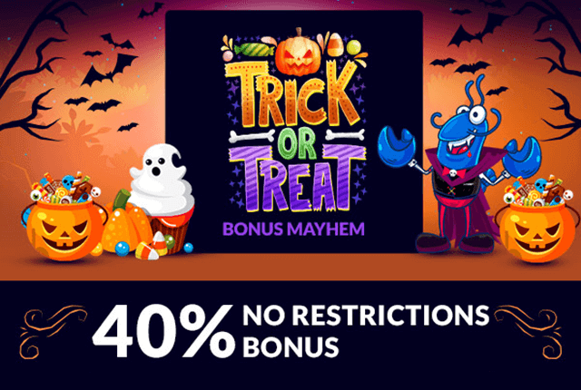 halloween offer 40% no restrictions bonus